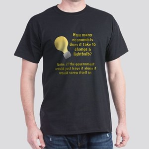 Economist Lightbulb joke Dark T-Shirt