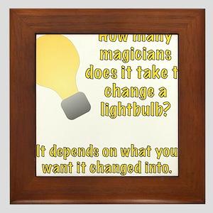 Magician Lightbulb joke Framed Tile