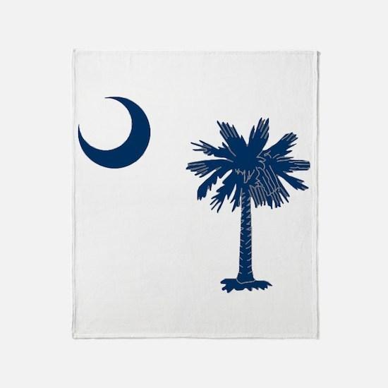 Cute South carolina palmetto and moon Throw Blanket