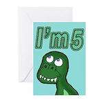 Im 5 T-rex Greeting Cards (Pk of 10)