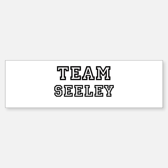 Team Seeley Bumper Bumper Bumper Sticker