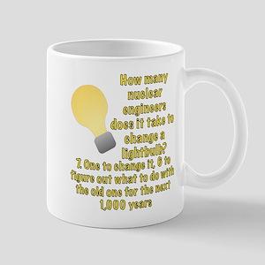Nuclear Engineer Lightbulb Joke Mug
