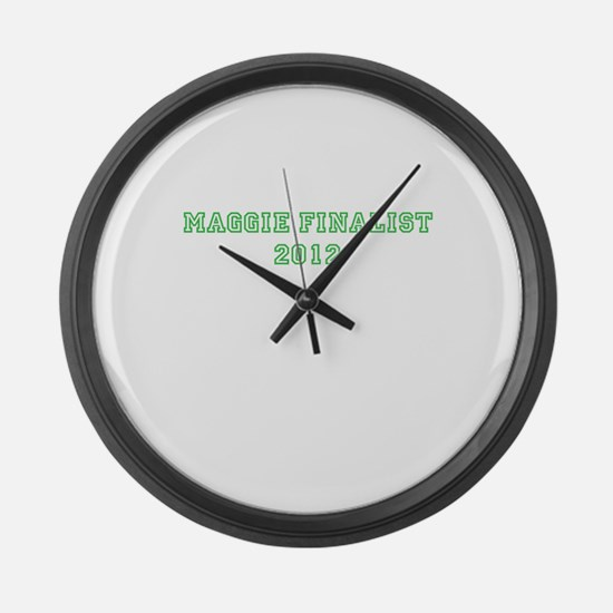 Maggie Finalist 2012 Green Large Wall Clock