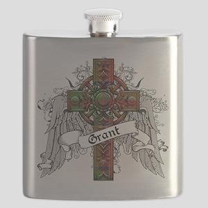 Grant Tartan Cross Flask