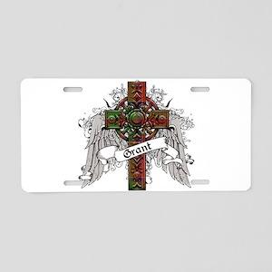 Grant Tartan Cross Aluminum License Plate