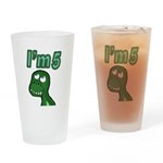 Im 5 T-rex Drinking Glass