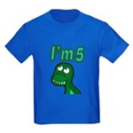 Im 5 T-rex Kids Dark T-Shirt