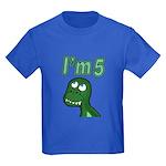 Im 5 T-rex Kids Dark T-Shirt