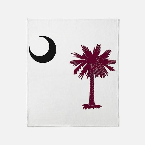Funny Palmetto Throw Blanket