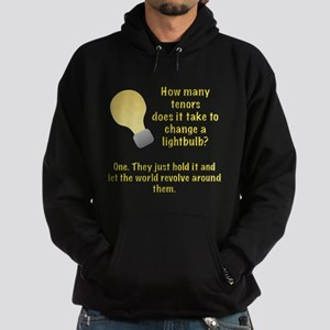 Tenor lightbulb joke. Hoodie (dark)