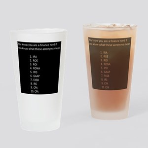 Finance Nerd Acronyms Drinking Glass