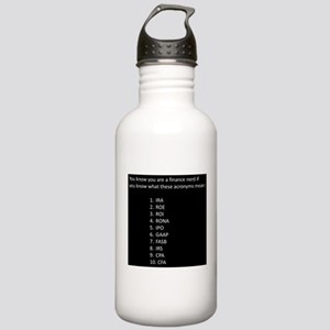 Finance Nerd Acronyms Stainless Water Bottle 1.0L
