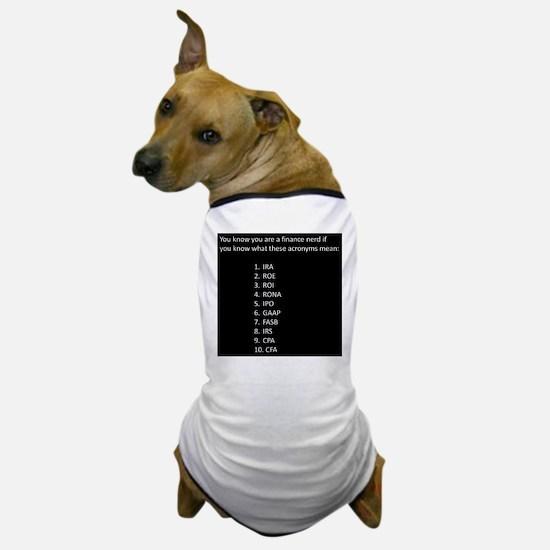 Finance Nerd Acronyms Dog T-Shirt