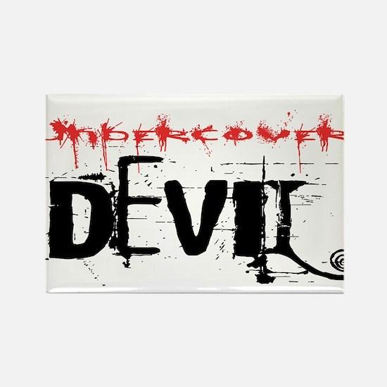 Undercover Devil, Funny T- Shirt Design Rectangle