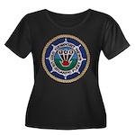 USS NEWP Women's Plus Size Scoop Neck Dark T-Shirt
