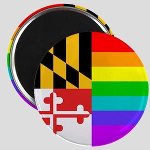 MD Rainbow Flag Magnet