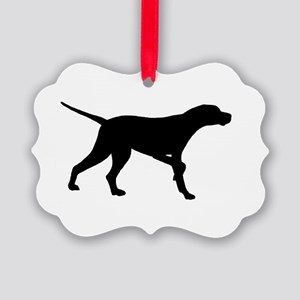 Pointer Dog On Point Picture Ornament
