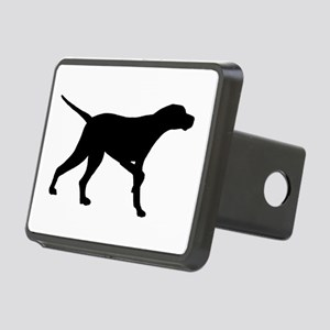 Pointer Dog On Point Rectangular Hitch Cover
