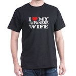 I Love My Japanese Wife Black T-Shirt