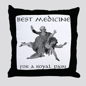 Spanked Royal Butt Throw Pillow