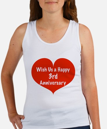Wish us a Happy 3rd Anniversary Women's Tank Top