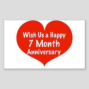 7 month anniversary stickers cafepress