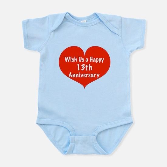 Wish us a Happy 13th Anniversary Infant Bodysuit