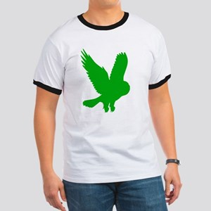 Green Owl in Flight Ringer T