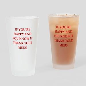 happy Drinking Glass