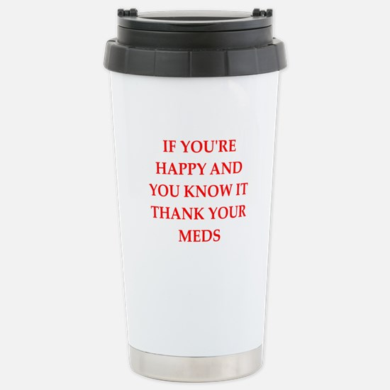 happy Stainless Steel Travel Mug