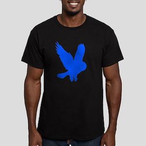 Blue Owl in Flight Men's Fitted T-Shirt (dark)