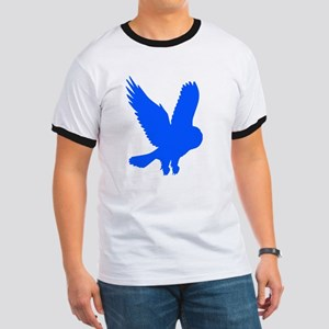 Blue Owl in Flight Ringer T