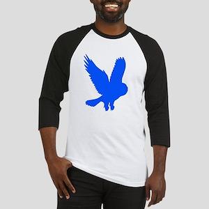 Blue Owl in Flight Baseball Jersey