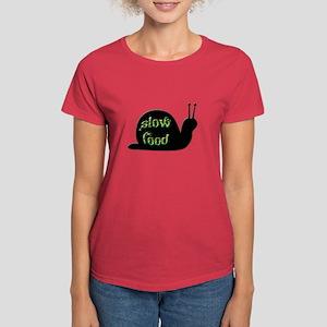 Slow Food Snail Women's Dark T-Shirt