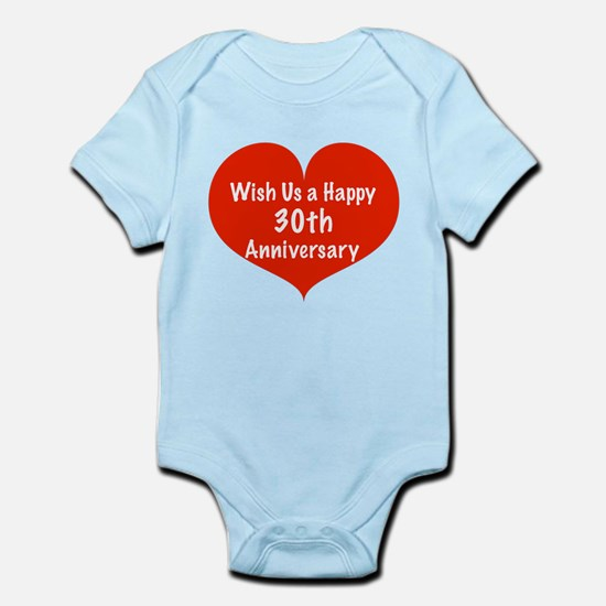 Wish us a Happy 30th Anniversary Infant Bodysuit