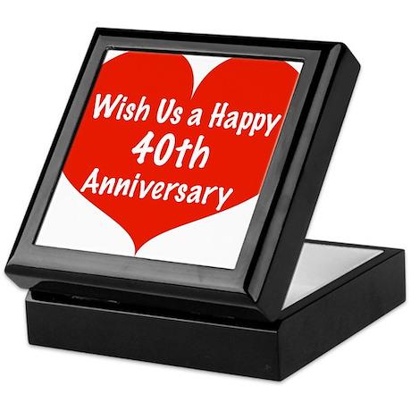Wish us a Happy 40th Anniversary Keepsake Box