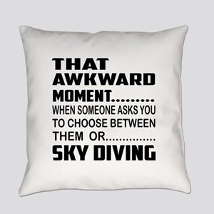 That Awkward Moment... Sky Diving Everyday Pillow