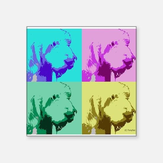 """Spinone a la Warhol 2 Square Sticker 3"""" x 3"""""""