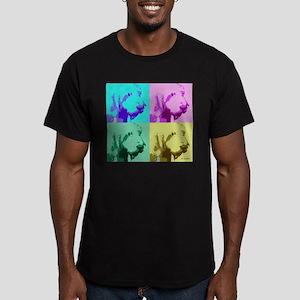 Spinone a la Warhol 2 Men's Fitted T-Shirt (dark)