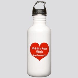 Wish us a Happy 50th Anniversary Stainless Water B