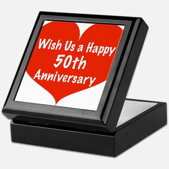 Wish us a Happy 50th Anniversary Keepsake Box