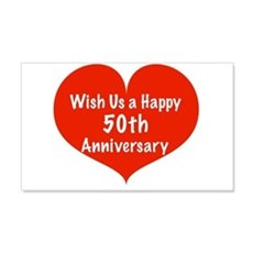 Wish us a Happy 50th Anniversary Wall Decal