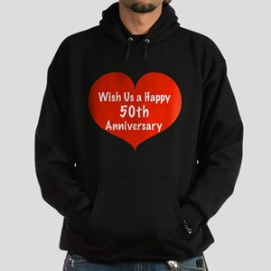 Wish us a Happy 50th Anniversary Hoodie (dark)
