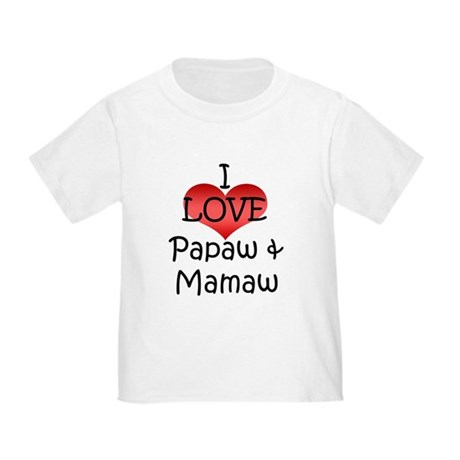 CafePress I Love Pawpaw Toddler T Shirt Toddler T-Shirt 655837398