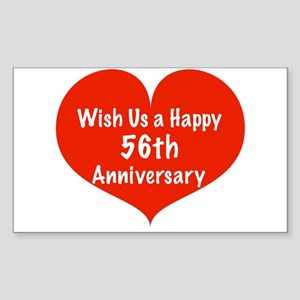 Wish us a Happy 56th Anniversary Sticker (Rectangl