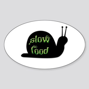Slow Food Snail Sticker (Oval)