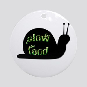 Slow Food Snail Ornament (Round)