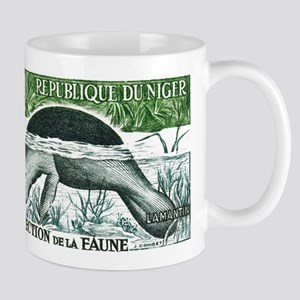 Republic of Niger Manatee Stamp 1962 Mug