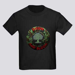 DOOM AND BLOOM CAMO DESIGN Kids Dark T-Shirt