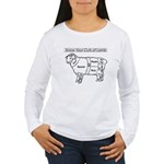 Know Your Cuts of Lamb Women's Long Sleeve T-Shirt